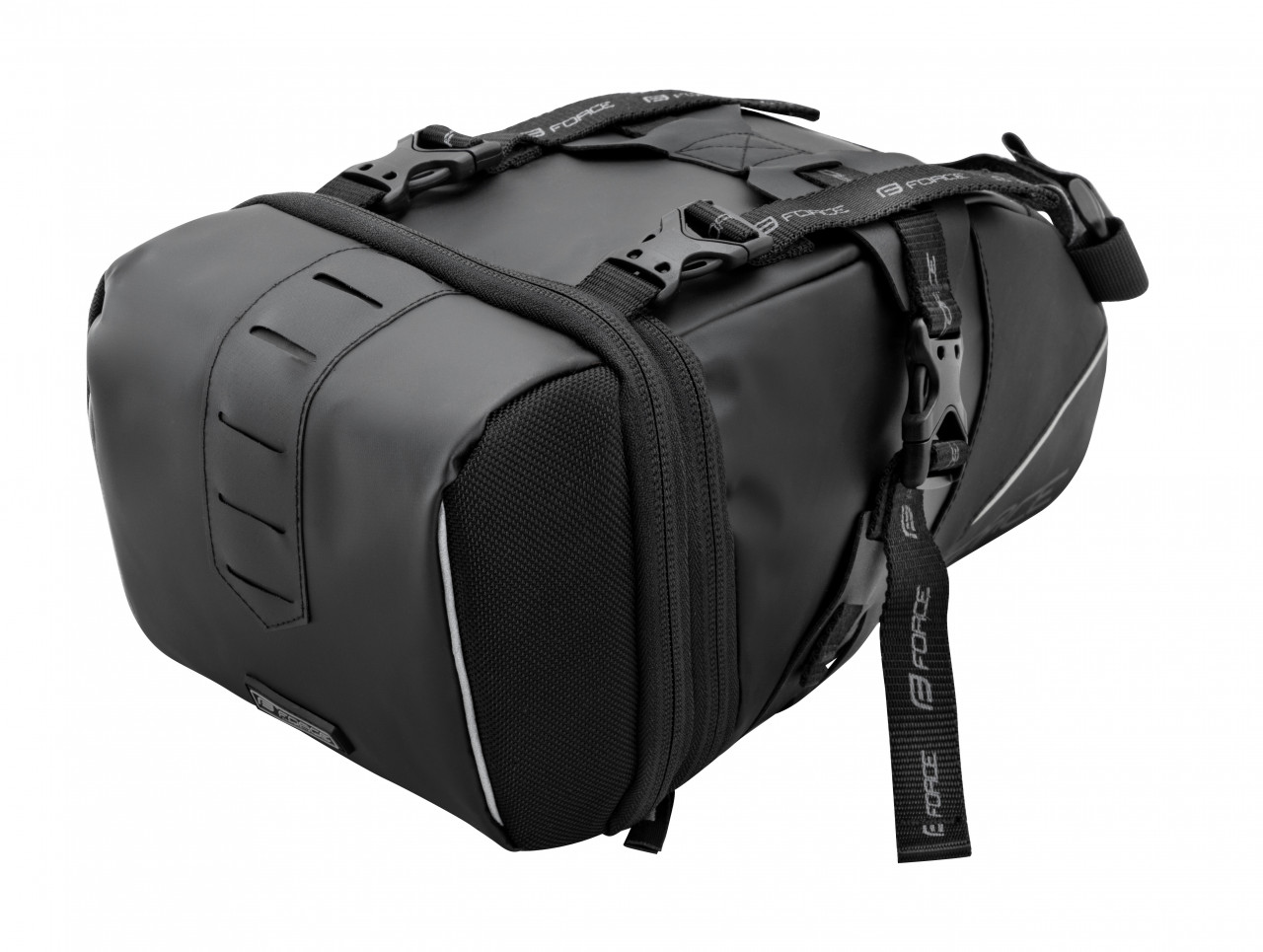 FORCE taška pod sedlo ADVENTURE,rozopínacia, čierna