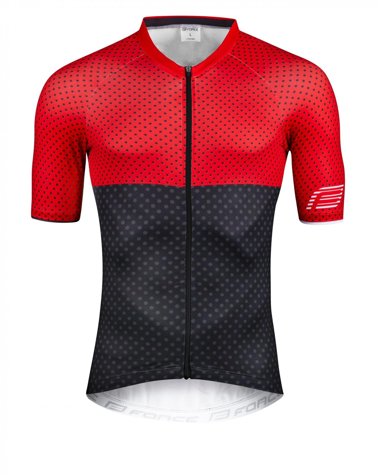 Force dres POINTS, krátky rukáv, červeno-šedý S