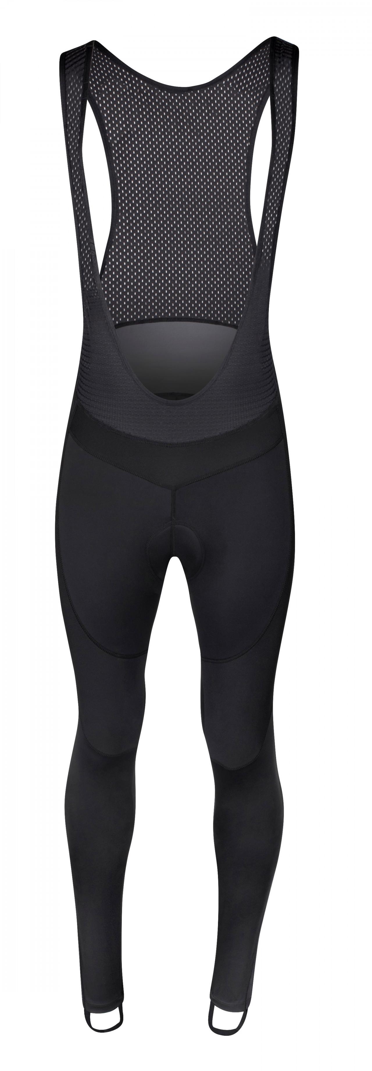 FORCE nohavice BRIGHT s trakmi a vložkou, čierne XXL