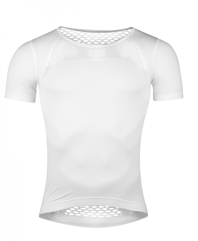 FORCE tričko funkčné SUMMER, krátky rukáv, biele XS-S