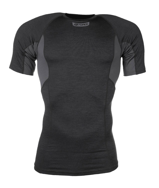 FORCE tričko funkčné  BREEZE krátky rukáv, šedé 3XL