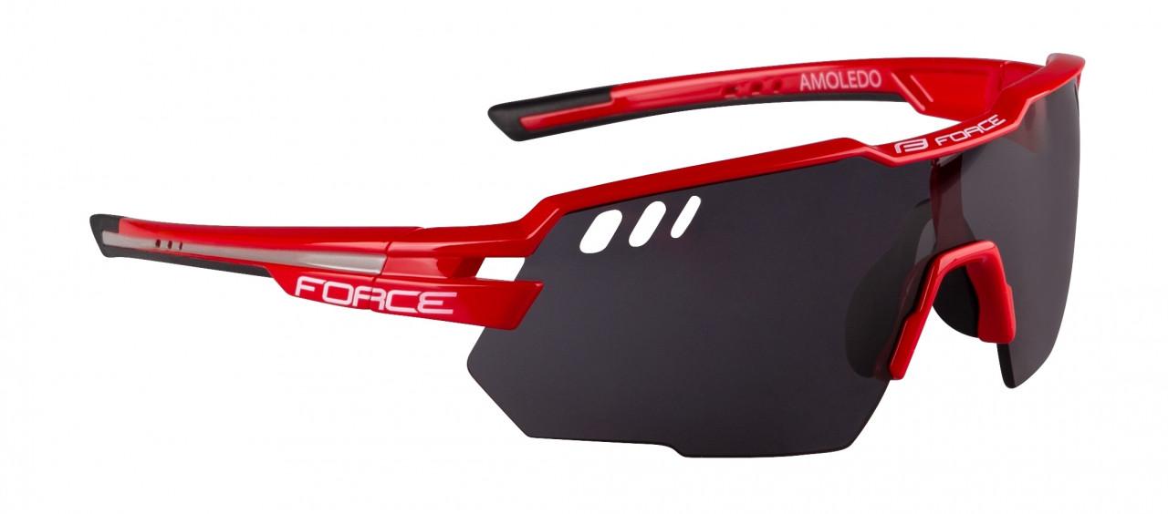 FORCE okuliare AMOLEDO, červeno-šedé, čierne sklá