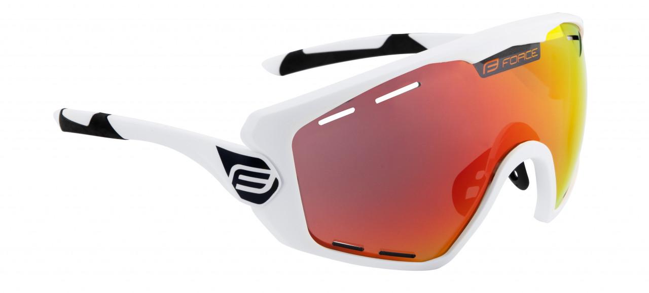 FORCE okuliare OMBRO PLUS biele matné, červené sklá