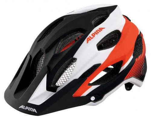 ALPINA Cyklistická prilba Carapax čierno-bielo-neonová červená Veľkosť : M, black-white-neon red