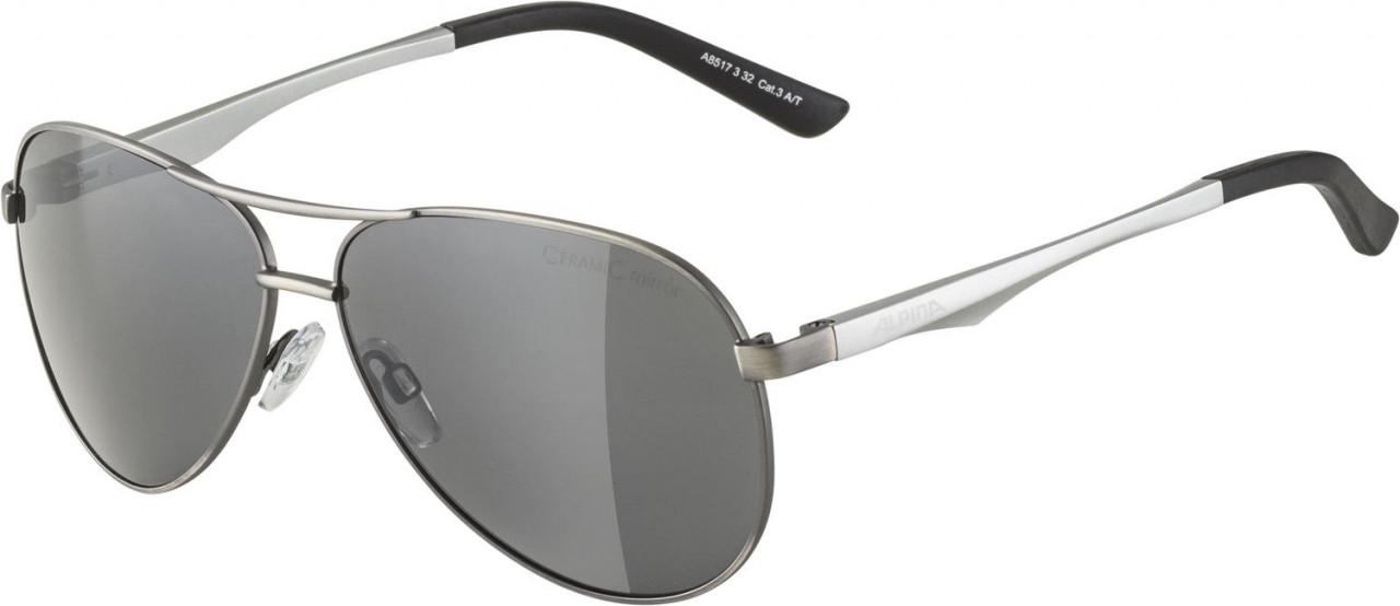 ALPINA Okuliare A 107 titanové matné, sklá: čierne zrkadlové