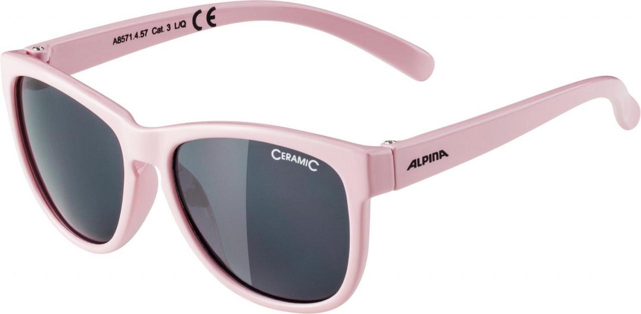 ALPINA Detské okuliare LUZY ružové, sklá: čierne S3