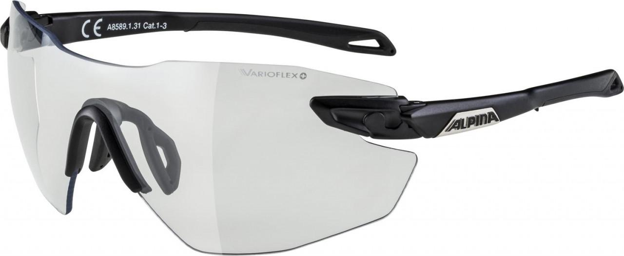 ALPINA Cyklistické okuliare TWIST FIVE SHIELD RL VL+ čierne matné
