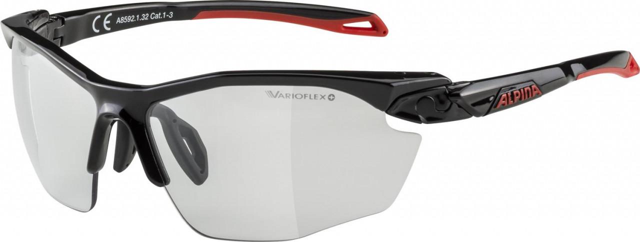ALPINA Cyklistické okuliare TWIST FIVE HR VL+ čierno-červené