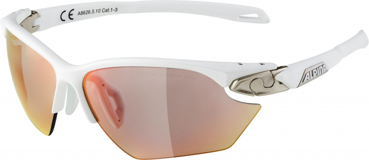 ALPINA Cyklistické okuliare TWIST FIVE HR S QVM+ bielo-strieborno matné