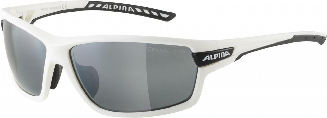 ALPINA Cyklistické okuliare TRI-SCRAY 2.0 bielo-čierne, vymeniteľné sklá