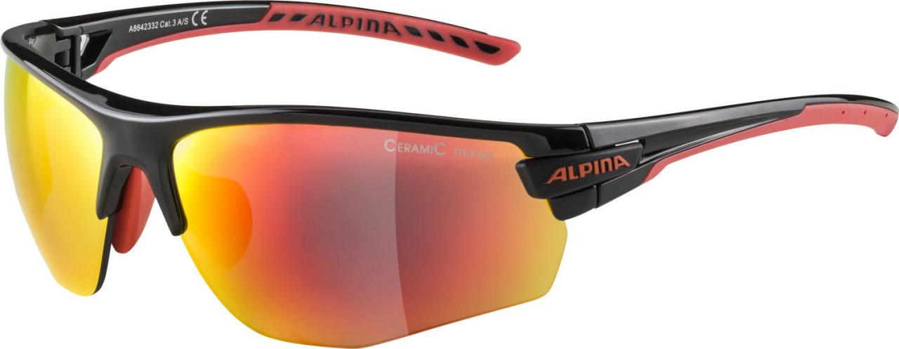 ALPINA Cyklistické okuliare TRI-SCRAY 2.0 HR čierno-červené, vymeniteľné sklá