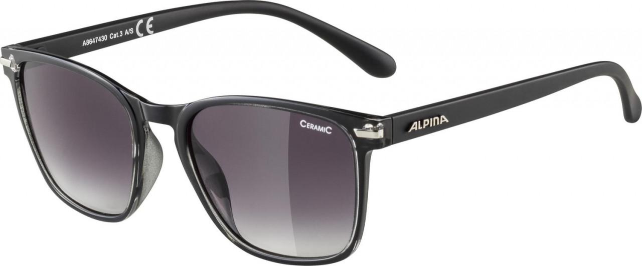 ALPINA okuliare Yefe čierne, sklá: čierne tónované