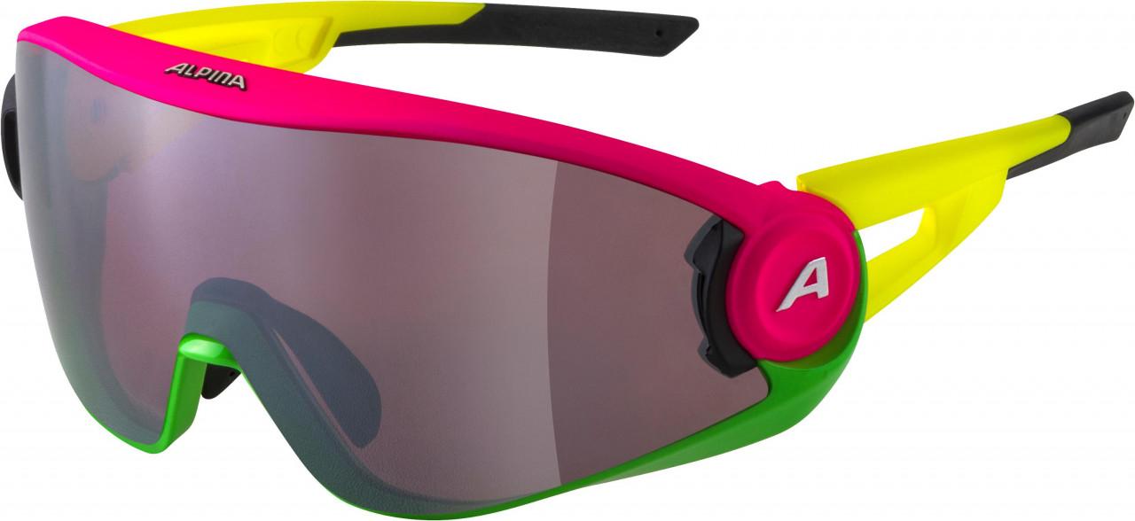 ALPINA Okuliare 5W1NG Q+CM ružovo-zeleno-žlté