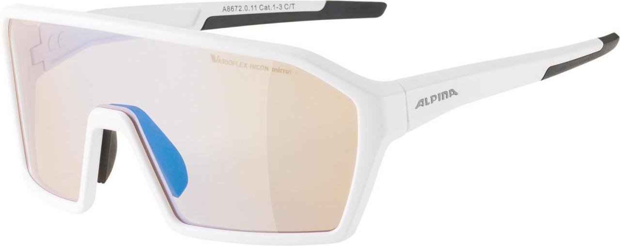 ALPINA Cyklistické okuliare RAM HVLM+ biele mat