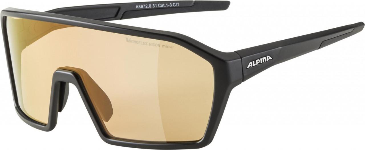 ALPINA Cyklistické okuliare RAM HVLM+ čierne mat