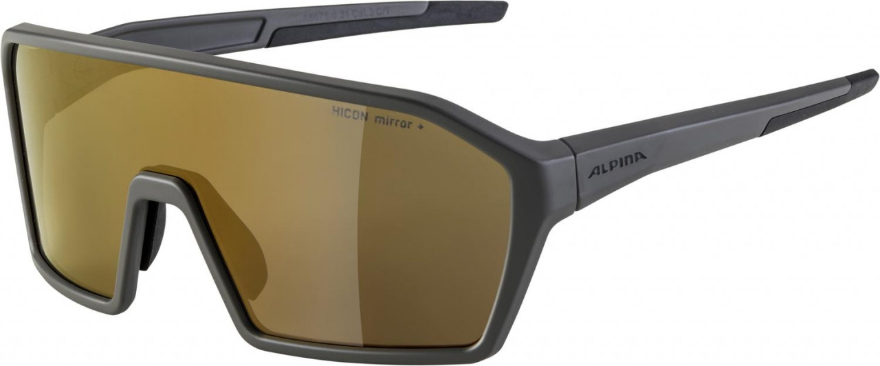 ALPINA Cyklistické okuliare RAM HM+ kávovo šedá
