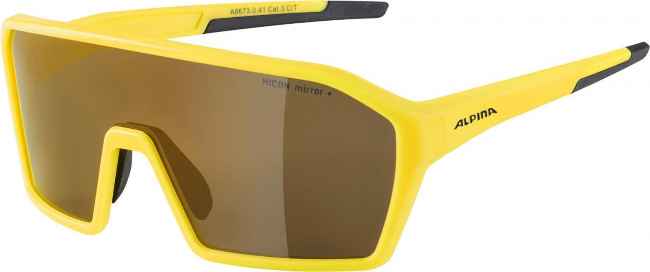 ALPINA Cyklistické okuliare RAM HM+ žlté mat