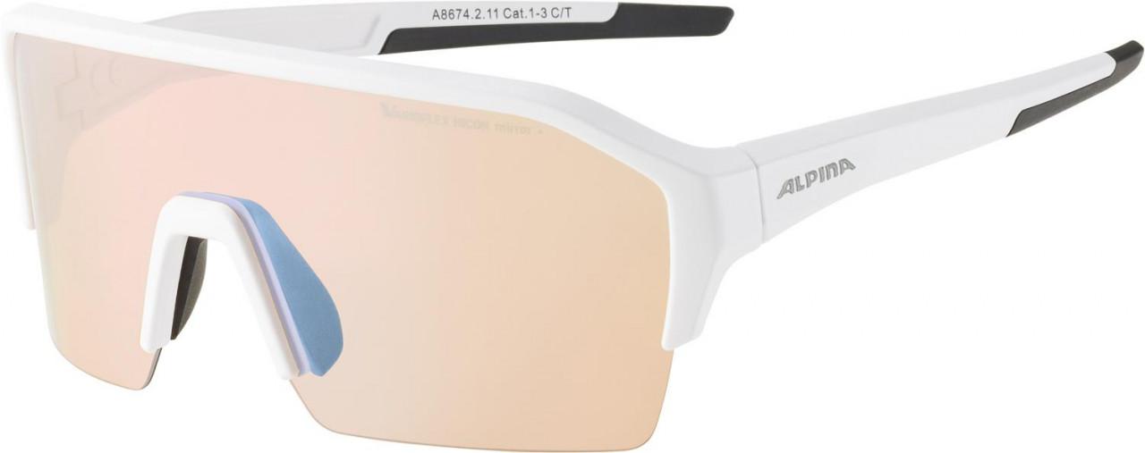 ALPINA Cyklistické okuliare RAM HR HVLM+ biele mat