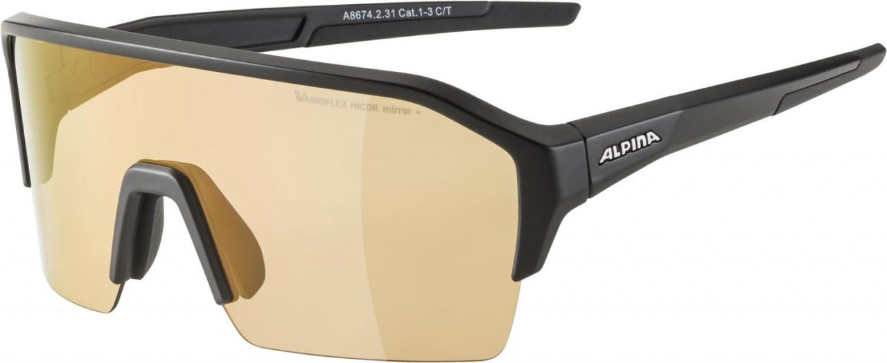 ALPINA Cyklistické okuliare RAM HR HVLM+ čierne mat
