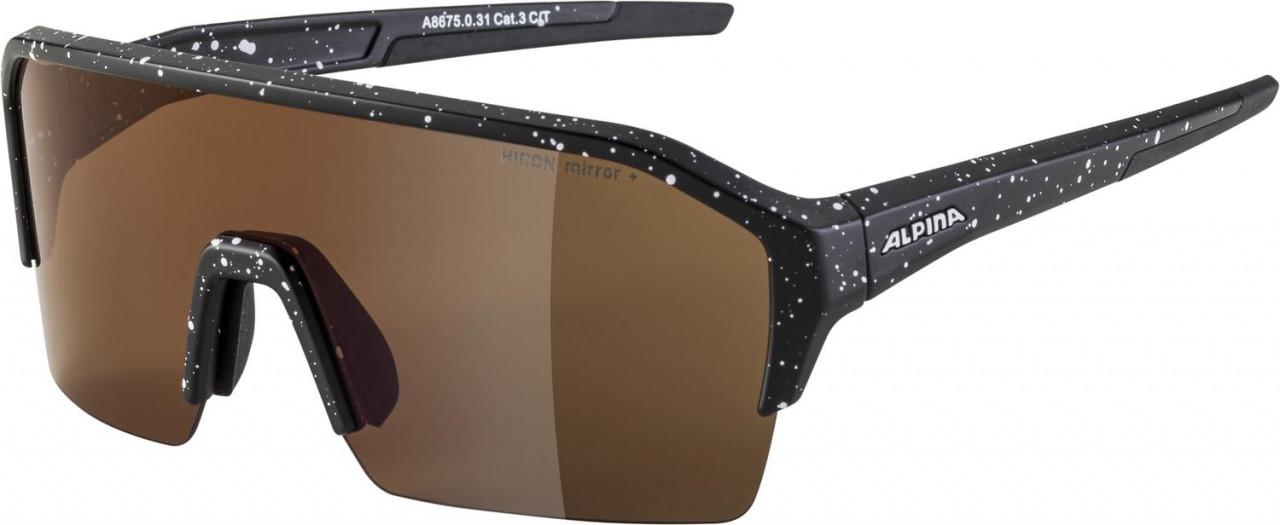 ALPINA Cyklistické okuliare RAM HR HM+ čierna blur