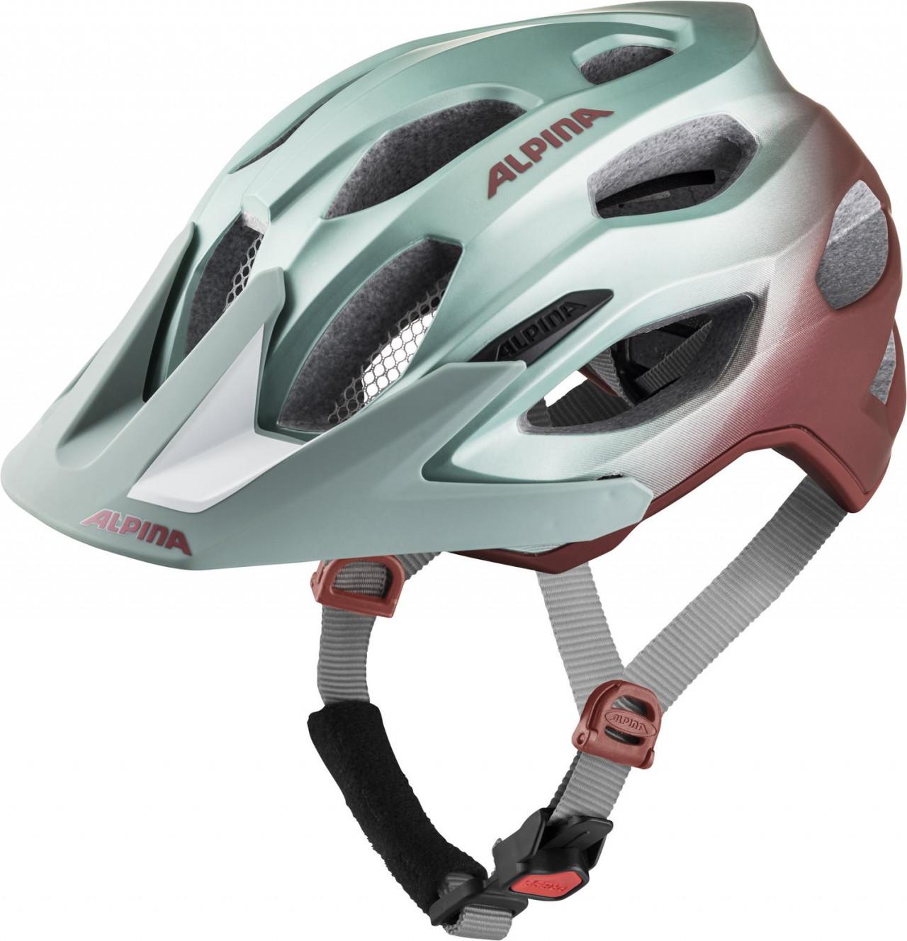 ALPINA Cyklistická prilba Carapax 2.0 pistáciovo-cherry Veľkosť : M