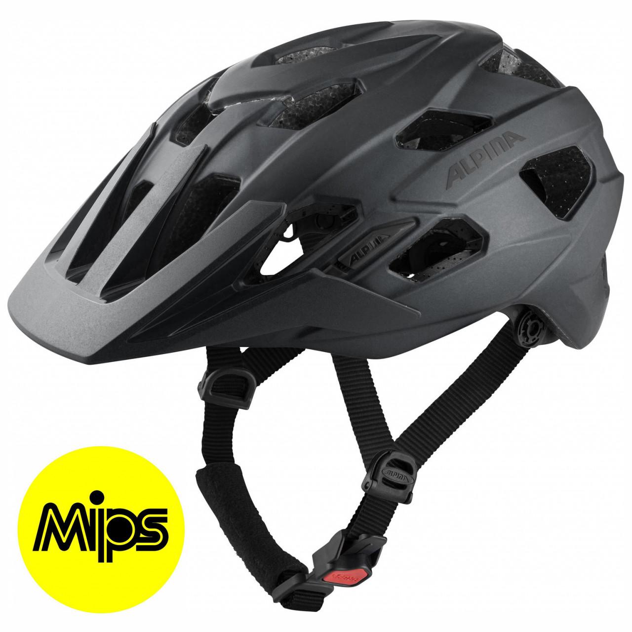 ALPINA Cyklistická prilba PLOSE MIPS čierna mat Veľkosť : L
