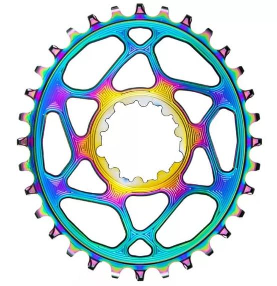 absoluteBLACK SRAM Oval Boost 148 rainbow 30T rainbow