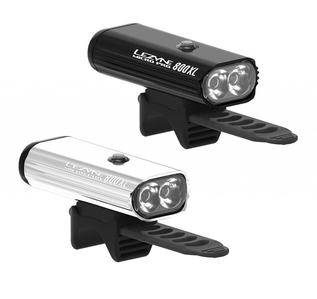 LEZYNE Svetlo MICRO DRIVE PRO 800XL strieborné
