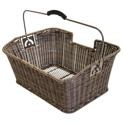 Carrier basket with handle, rattan look