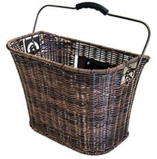 Basket for handlebars VR Expres-Klick rattan look