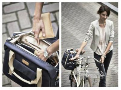 BASIL Taška na nosič PORTLAND BUSINESSBAG, krémová s peňaženkou zdarma