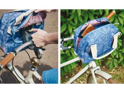 BASIL Taška na riadítka BOHEME CITY BAG, modrá + držiak s rýchloupínaním BasEasy na riadítka